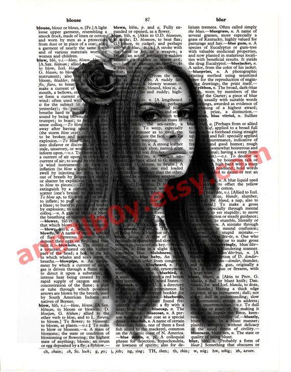 Lana Del Rey Portrait by Ang3lb0y on Etsy, $6.00