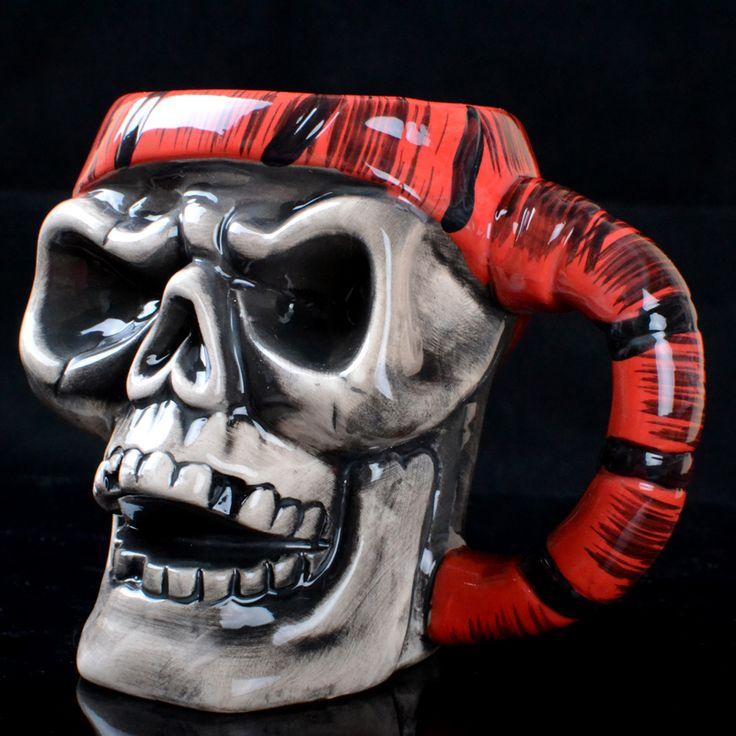 Ceramic Horror Skull Halloween Mug //Price: $34.69 & FREE Shipping //     #skull #skullinspiration #skullobsession #skulls