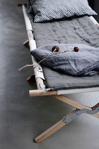 ...camp cots. So much better than an air matress.
