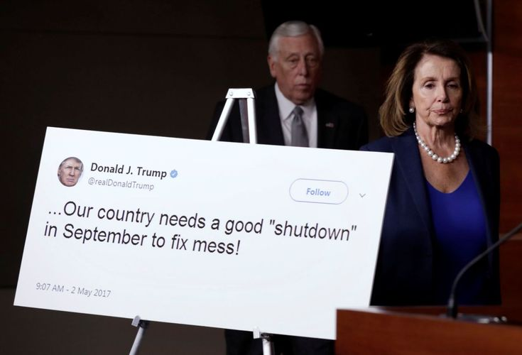 Government shutdown begins -  House Minority Leader Nancy Pelosi and Rep. Steny Hoyer arrive at a news conference with Democratic leaders on opposition to government shutdown on Capitol Hill in Washington, Jan. 19, 2018. (Photo: Yuri Gripas/Reuters)