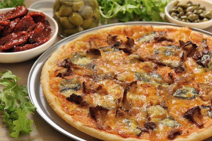 Грибная пицца плюс еще два рецепта