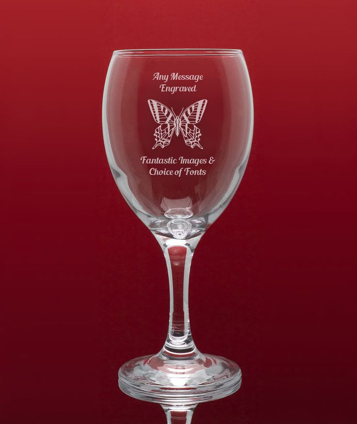 Personalised Engraved Wine Glass with Beautiful Gift Box - Image & Message in Home, Furniture & DIY, Celebrations & Occasions, Other Celebrations & Occasions   eBay