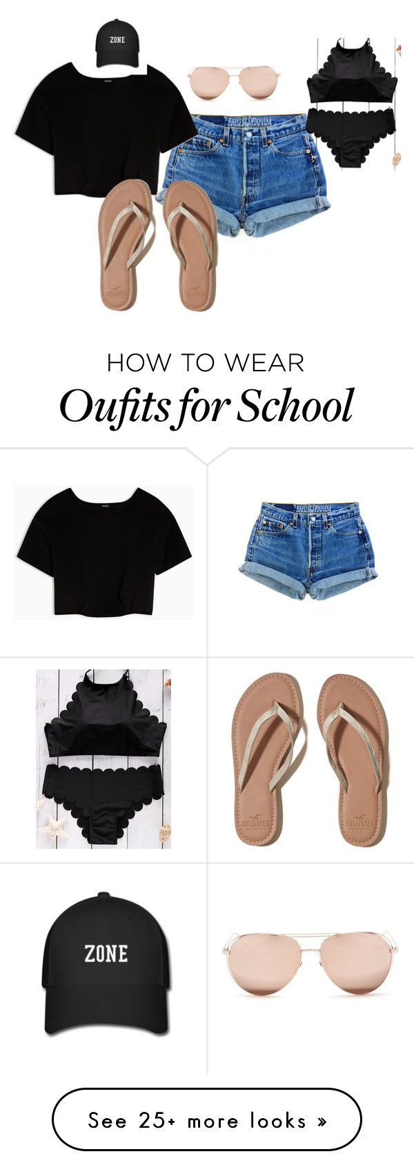 """Untitled #30"" by mckessler on Polyvore featuring Max&Co., Hollister Co. and Linda Farrow"