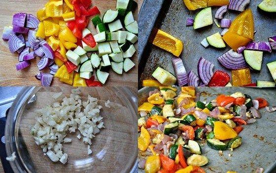 Запеченный овощной омлет