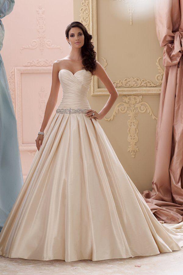 Taffeta Wedding Dress with Pockets