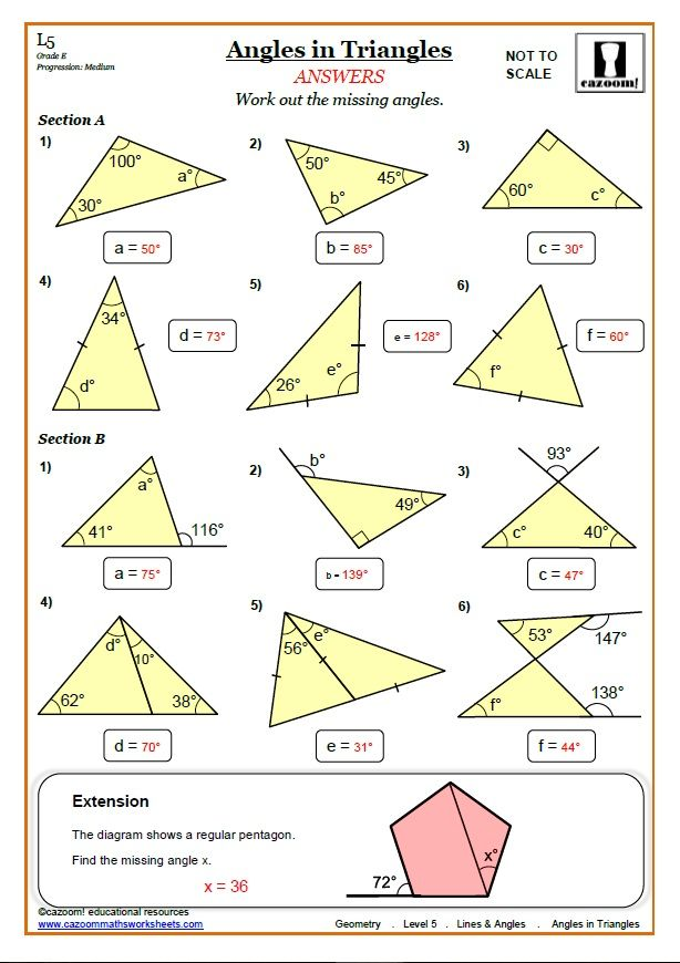 Lines And Angles Worksheets Cazoom Maths Worksheets Geometry Worksheets Angles Worksheet Triangle Worksheet Lines and angles worksheet
