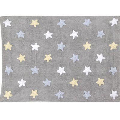 tapis souple etoiles bleu - Tapis Chambre Bebe Garcon