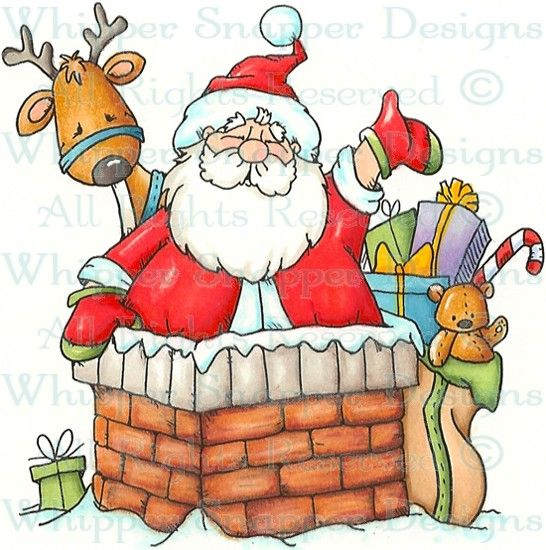 Chimney of Toys - Christmas Images - Christmas - Rubber Stamps - Shop
