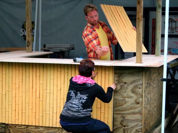 How to Build a Tiki Bar With a Thatched Roof   Outdoor Spaces - Patio Ideas, Decks & Gardens   HGTV