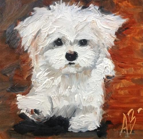 """Daily Paintworks - """"Comes running"""" - Original Fine Art for Sale - © Annette Balesteri"""