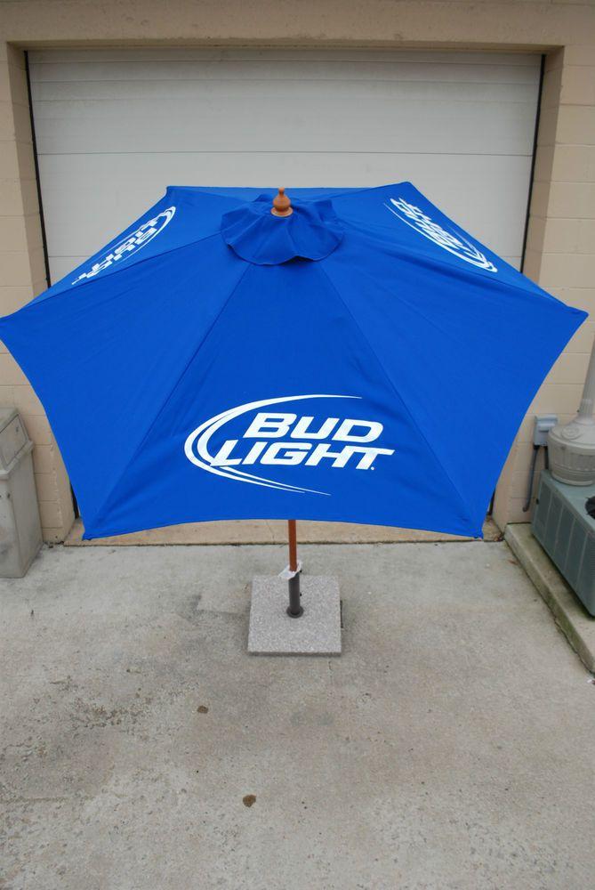 Bud Light Beer Patio Beach Market 7 FT. Umbrella ~ NEW & F/S 3 Bud Light Logos  | eBay