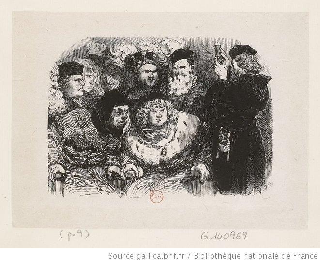 [Voici, leur dit-il, un poison très subtil que je suis allé chercher en Italie pour vous délivrer du roi et de ses enfants] : [estampe]. Doré, Gustave (1832-1883).