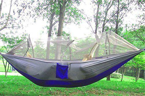 EIALA Camping Hammock, Mosquito Net Outdoor Hammock Travel ...
