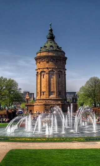 Wasserturm - Mannheim, Baden-Württemberg, Germany