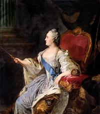 'Catharina de Grote' (1763), Fyodor Rokotov (1736-1808) / Tretjakovgalerij, Moskou, Rusland.