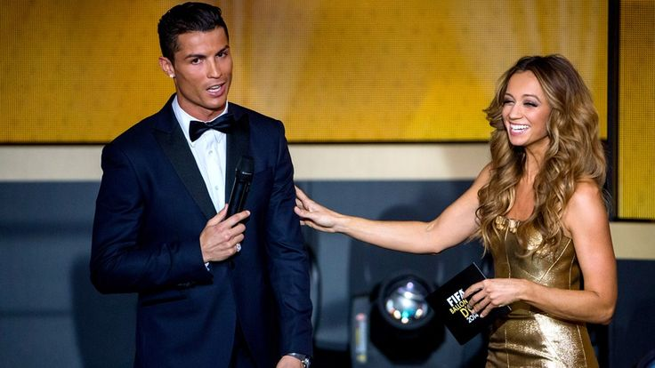 Presenter Kate Abdo speaks with Cristiano Ronaldo