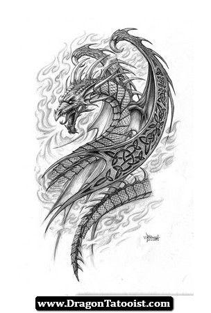 midevil dragon tattoo designs - Google Search