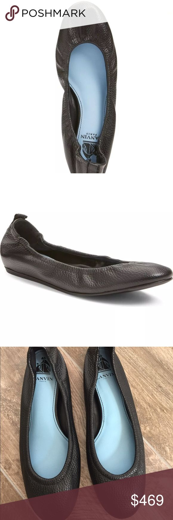 Lanvin Black Classic Leather Ballet Flats Size 40 Lanvin Black Classic Leather Ballet Flats Size 40 Lanvin Shoes Flats & Loafers