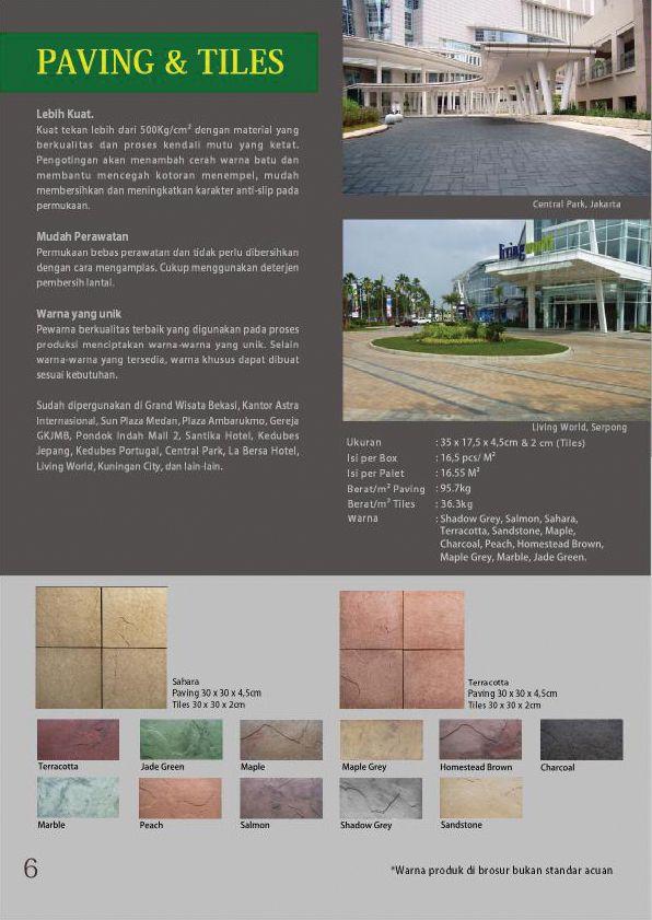 Brosur Paving & Tiles