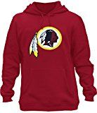 Mens Athletic Redskins Football Pullover Hoodie - Red XXL