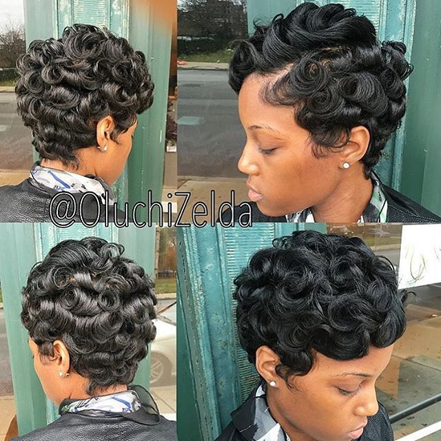 Pin curl black hair the best black hair 2017 20 sensational pin curls on black hair that rock urmus Images