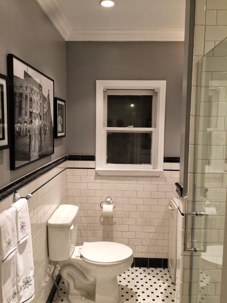 1920s Bathroom Remodel | Subway Tile | Penny Tile Floor ...