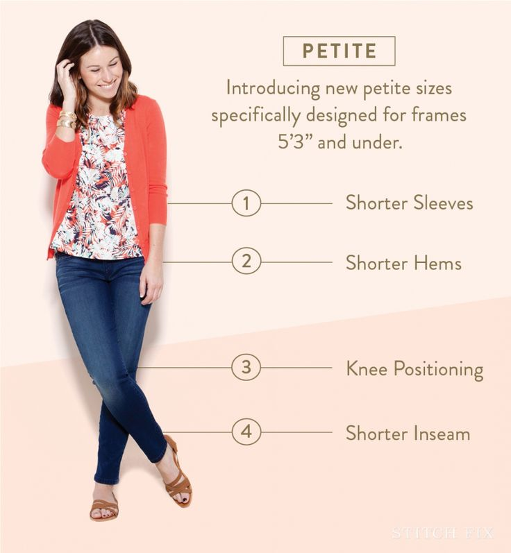 Dear stylist - I completely fit into this category - sign me up for petite, please! A Guide to Petite Sizing at Stitch Fix