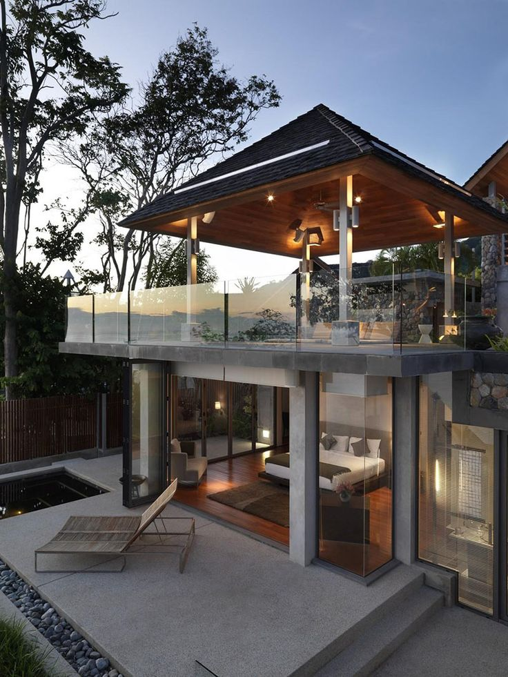 a private villa is a mix of modern and traditional thai design the samsara house - Thai Home Design