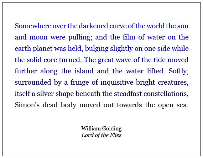 an analysis of the symbolism of the beast in william goldings lord of the flies A summary of symbols in william golding's lord of the flies  ralph and piggy  discover the conch shell on the beach at the start of the novel and use it to.