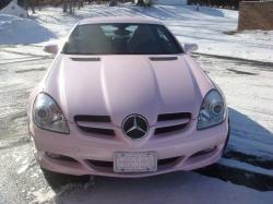 Pink Mercedes SLK 350 Soft pink is the sweet pink