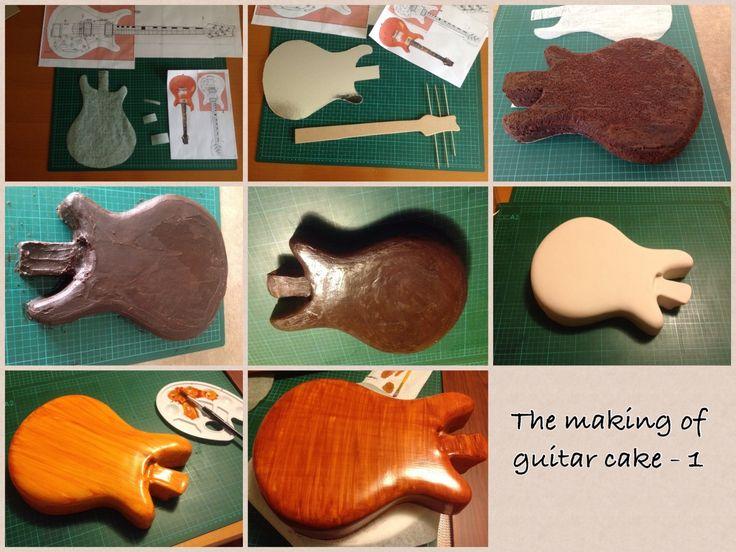 Tutorial guitar cake 1