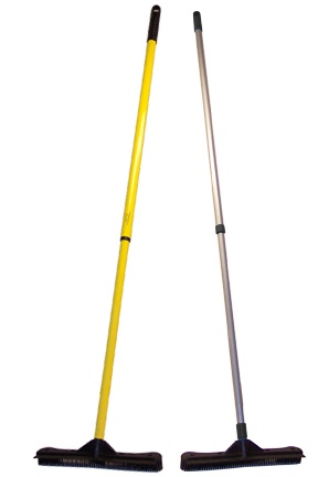 Rubber broom - I would find it very satisfying to have a broom that I could wash off!
