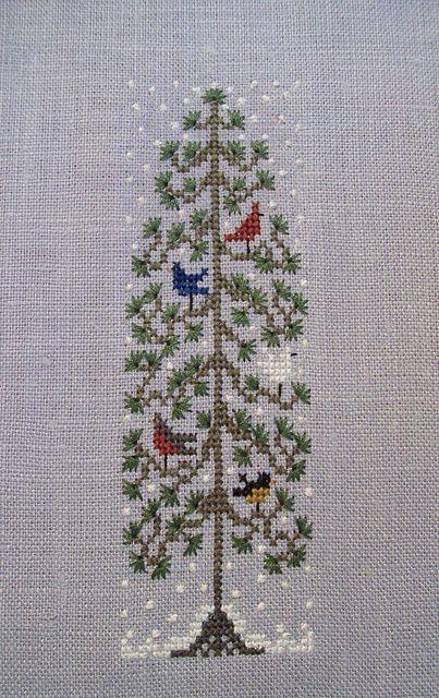 first snow - cross stitch