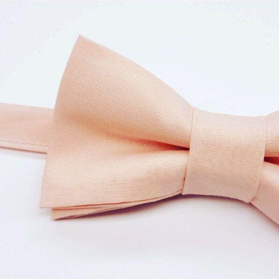 Boys Blush Wedding Bow tie. Kids Blush Bow tie by FlyTiesforFlyGuys