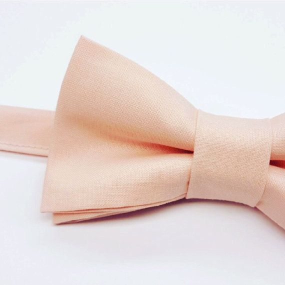 Boys Blush Wedding Bow tie. Kids Blush Bow tie by FlyTiesforFlyGuys