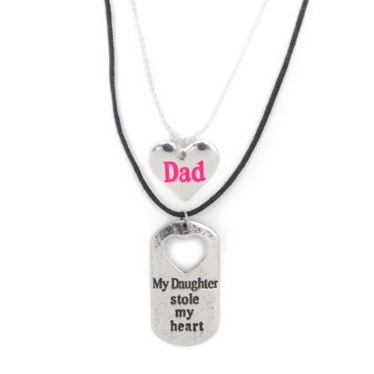 15 best dad images on pinterest fingerprints jewel and jewelery my daughter stole my heart father daughter pendant necklaces set of 2 aloadofball Choice Image