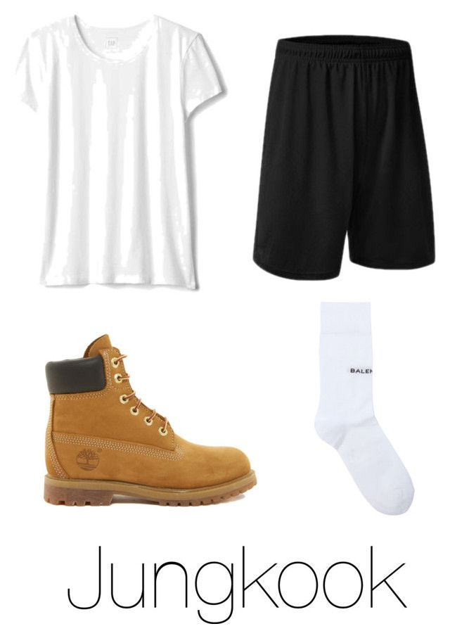 """""""Jungkook 'BTS Gayo Track 1'"""" by xxnekohime on Polyvore featuring Balenciaga and Timberland"""