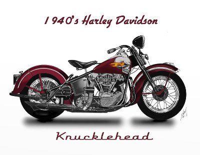 1940's Harley-Davidson Knucklehead