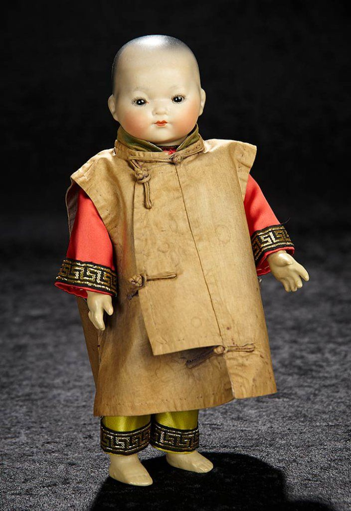 """""""Bijoux"""" Doll Auction, January 6-7, 2018 - theriaults.proxibid.com - Petite German Bisque Chinese Baby,"""" Ellar"""", by Marseille 600/800"""