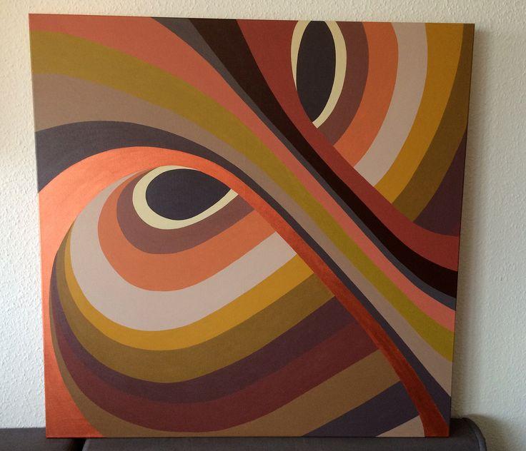 "Titel ""Twister"" 100x100 cm. Acrylic Colors"
