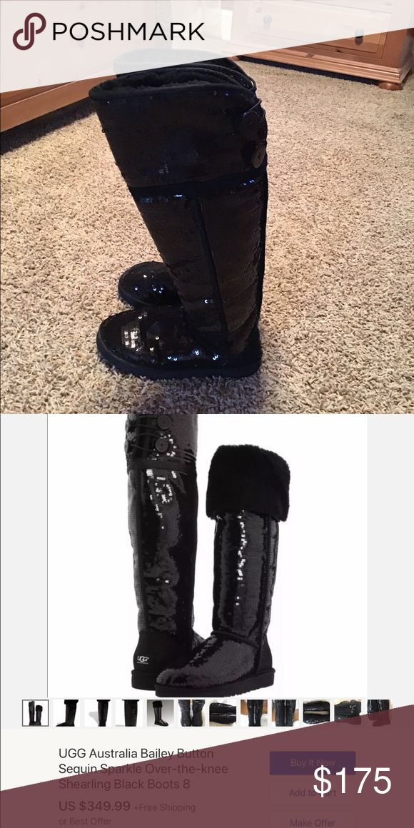 980847898ec Ugg Bailey button sequin sparkle shearling boots | My Posh Picks ...
