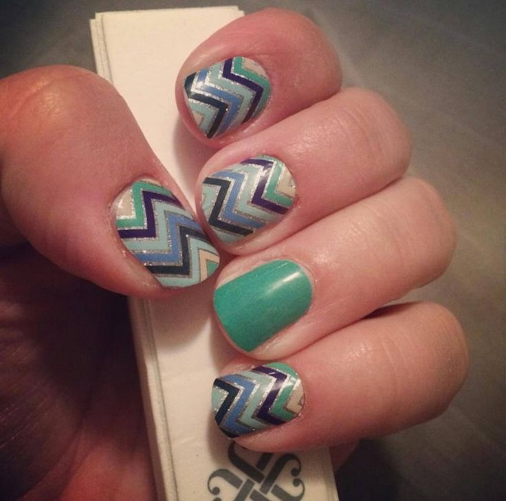 Jamberry Crystalline And Navy Skinny Nail Art Without The Mess