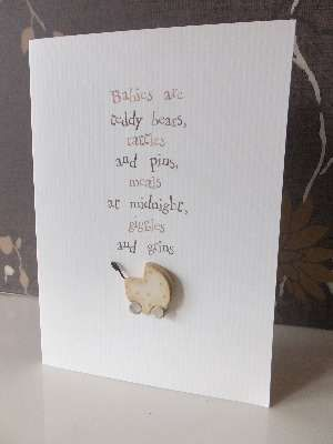 'Babies are .............  -  East of India  Card