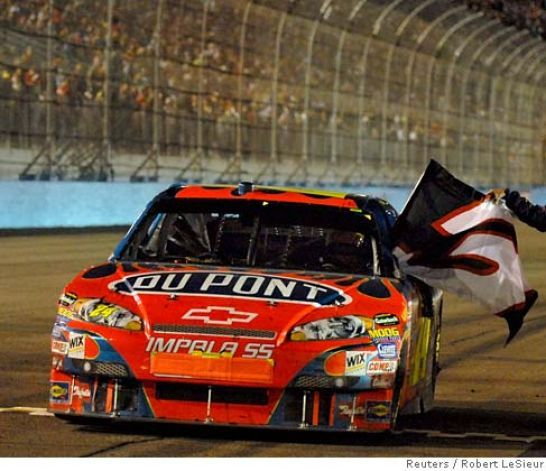 Jeff Gordon honoring Dale Earnhardt Sr. #3.