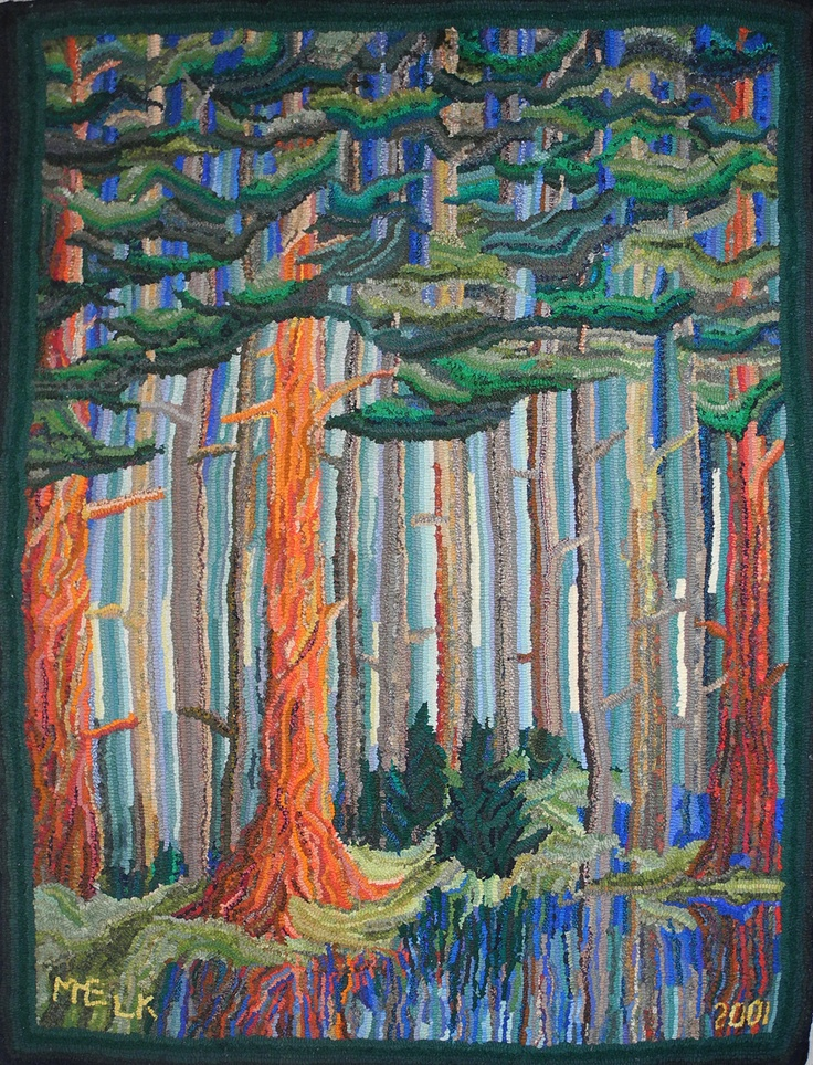 Forest rug by Beth Kempf