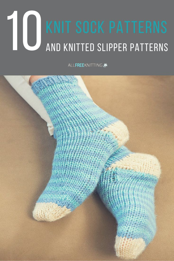 Slipper Socks Knitting Pattern Easy : 49 basta bilderna om Easy Sock Knitting Patterns pa Pinterest