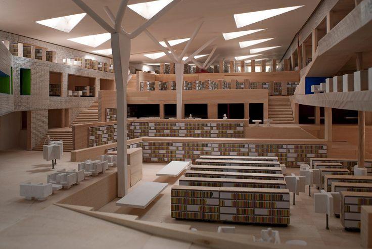 Neue Pläne von Bolles Wilson für Nationalbibliothek Luxemburg / Lineares Arrangement - Architektur und Architekten - News / Meldungen / Nachrichten - BauNetz.de