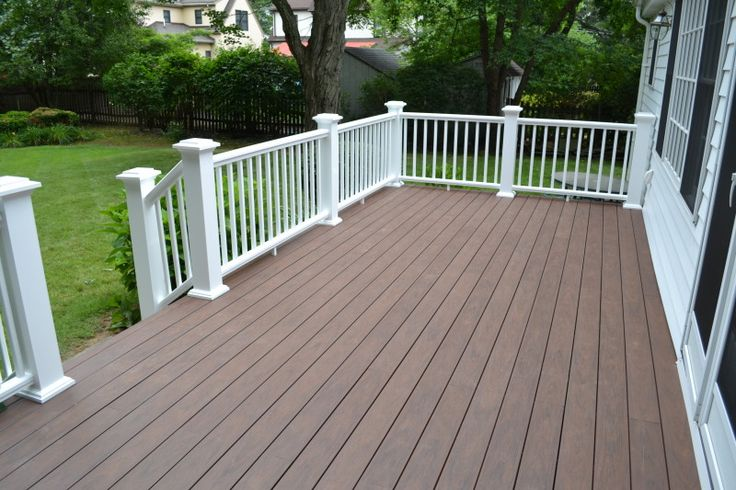 Azek Deck Flooring This color would hide dirt and contrast