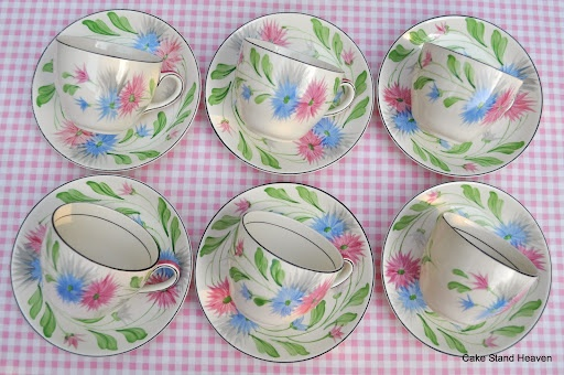Vintage Tea Set Soho Pottery Solian Ware Hand Painted Art DecoVintage Tea