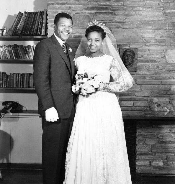 Winnie Mandela on her wedding day...#Mandela